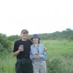 Na Safari v JAR se svou ženou Hanou, 2004