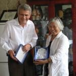 S předsedkyní Čínské psychiatrické společnosti, Peking 2007