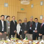 S budoucím prezidentem Světové psychiatrické společnosti prof. Dinishem Bhugrou a prezidenty psychiatrických společností, Praha 2011