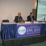 S prof. Hoschlem za předsednickým stolem Evropské psychiatrické konference, Praha 2012