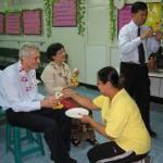 Oslava svátku Song-Ran ve vojenské psychiatrické klinice, Bangkok 2007