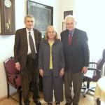 Prof. Myrna Weissman a nositel Nobelovy ceny za fyziologii a medicínu prof. Marshall Nirenberg na Psychiatrické klinice v Praze 2009