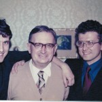 S otcem prof. Janem Rabochem a bratrem ing. Pavlem Rabochem, Praha 1972